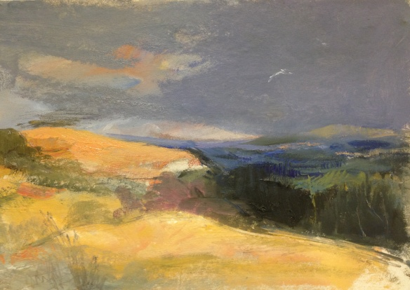 Above Betws y Coed oil on board A4