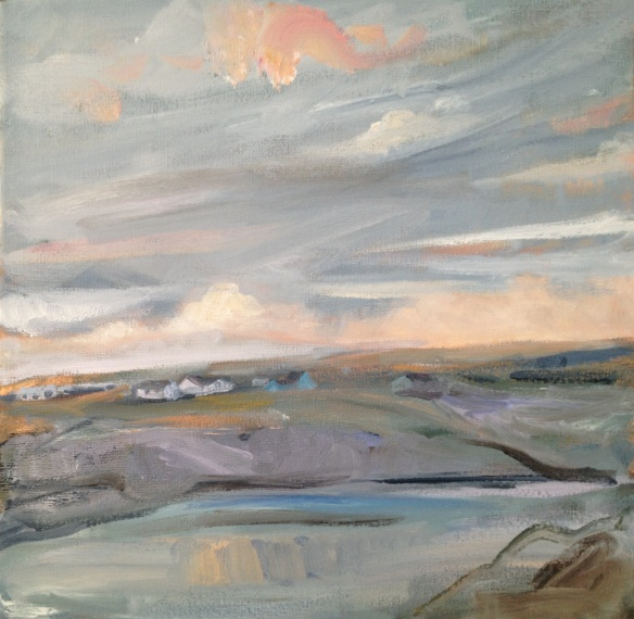 Hoswick, Shetland 2013 oil on canvas 30x30cm