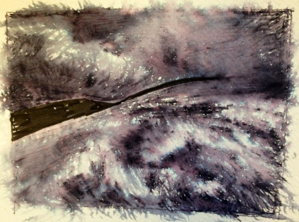 Dark Fell 2 (ink on paper 2014) A5 approx unframed £15