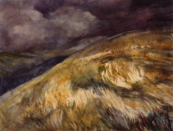Dark Fell 1 (watercolour 2014) framed £125