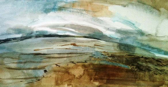 Thurstaston Panorama watercolour A3