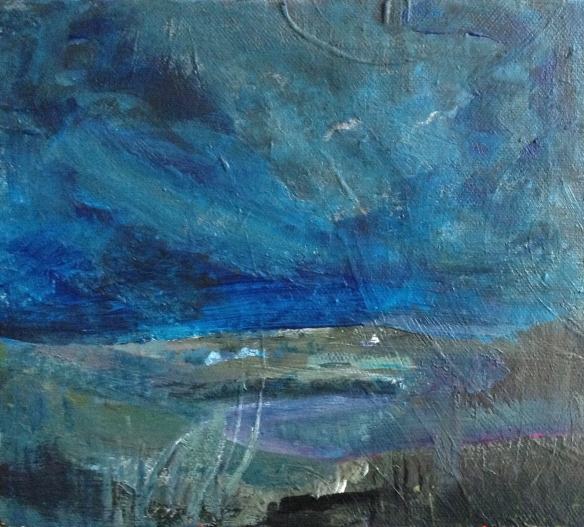 Winter Bay 2015 (acrylic on canvas 20x14cm, unframed) £40
