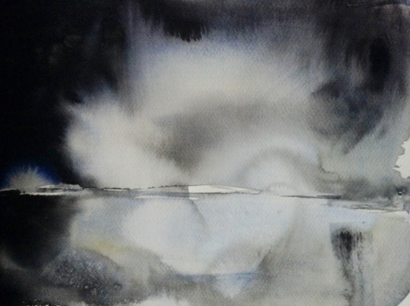 Cloud Vortex (2016) watercolour 40x50cm framed £250