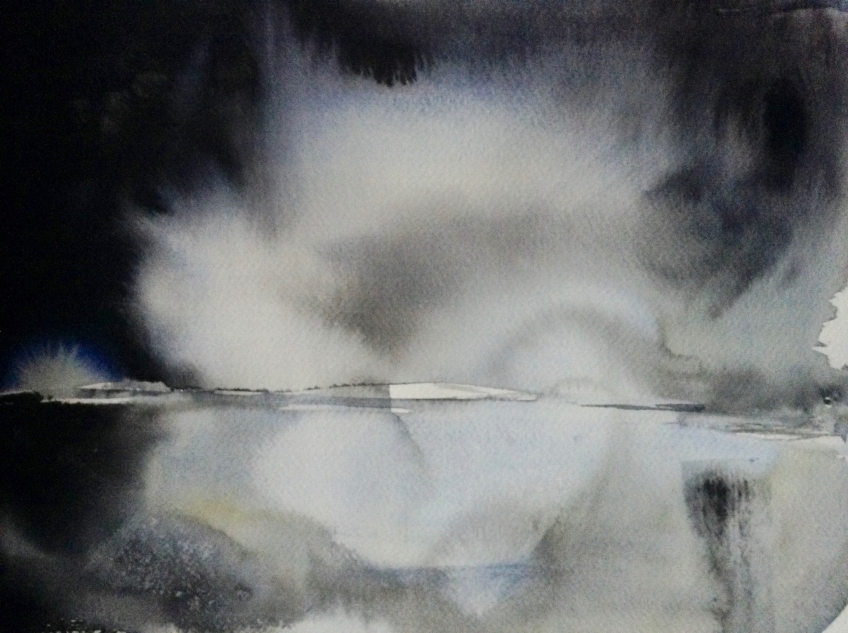 Cloudburst (2016) watercolour 40x50cm framed £350
