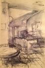 Quaker Cafe (pen & wash on A5 sepia paper, framed) 2015 £65