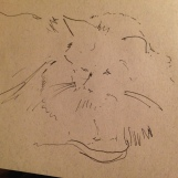 cat sketch A5 sepia paper £10