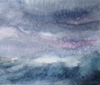 Jade Sea (2016) watercolour h13cm x w16cm framed £130