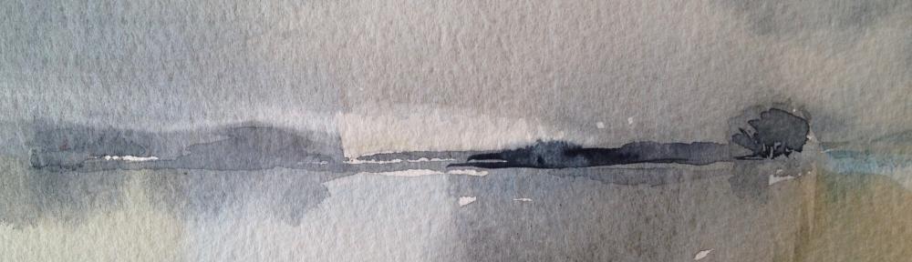 Neumann's Flash (2016) watercolour 15x11cm framed £60