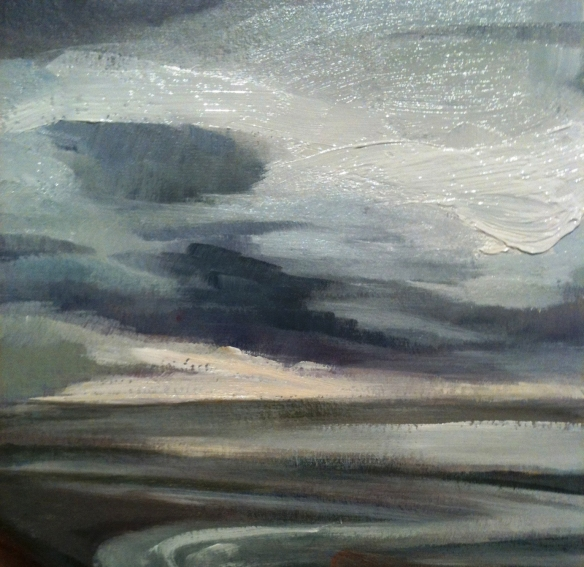 North Shore Wallasey oil on board