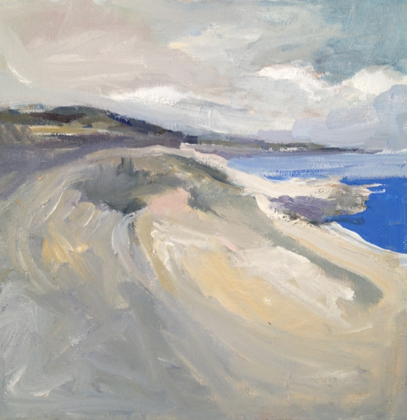 North Shore, Wirral 2013 oil on canvas 30x30cm