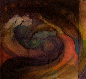 The Sea is Dancing Grandmothers (pastel on paper) 2002