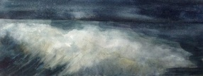 Return 2 (watercolour on paper 2014) image size 55x20cm, plus frame £140
