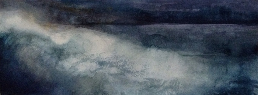 Return 1 (watercolour on paper 2014) image size 55x20cm, plus frame £140