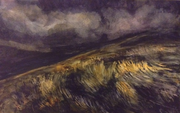 SOLD Dark Fell (Watercolour on A3 paper, framed) 2014 £150