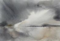 Breathe (Outgoing Tide) watercolour 2016 h18cm x w26cm