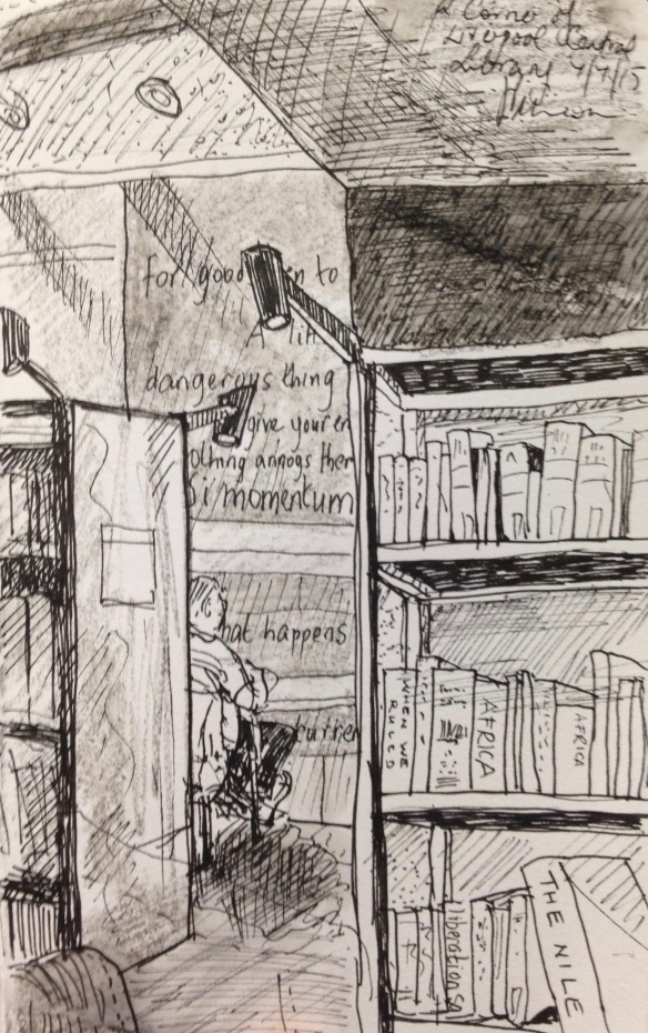 Liverpool Central Library (A5 pen & ink) 2015