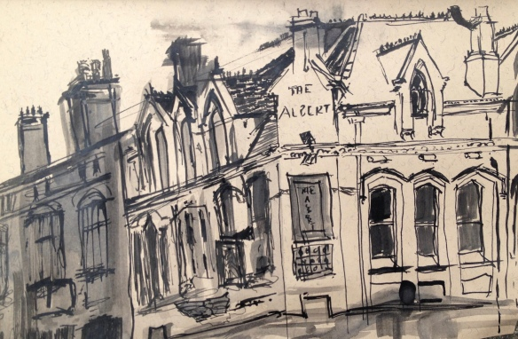 The Albert, Lark Lane (A5 soluble pen on paper) 2015