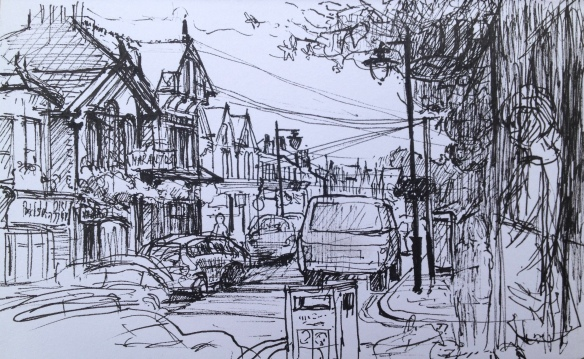 Lark Lane (A5 pen drawing) 2015